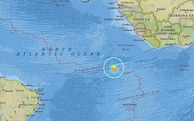 seismos-74-rixter-ston-notio-atlantiko-okeano